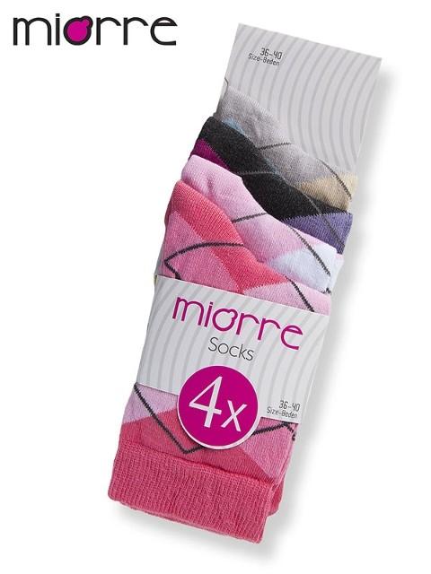 Miorre Bayan 4 Lü Ekoseli Çorap