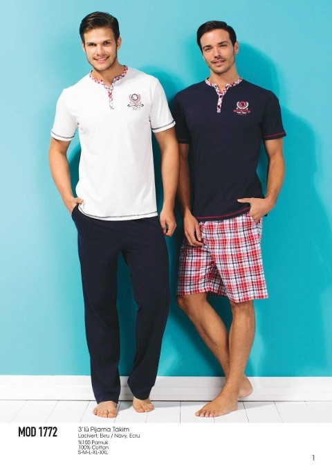 Mod Collection 3 Lü Pijama Takım 1772