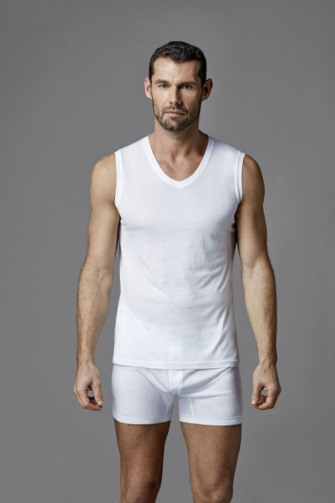 Modal V Yaka Kolsuz T-Shirt Dagi D3560