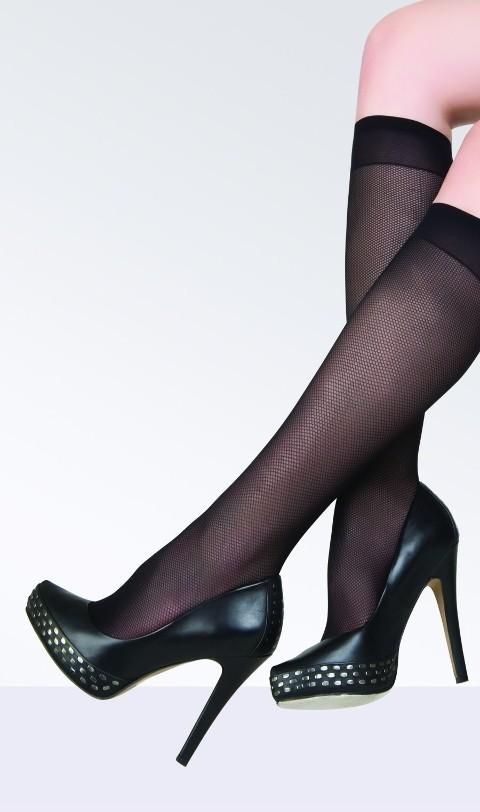 Daymod Ose Micro Rete Desenli Dizaltı Çorap