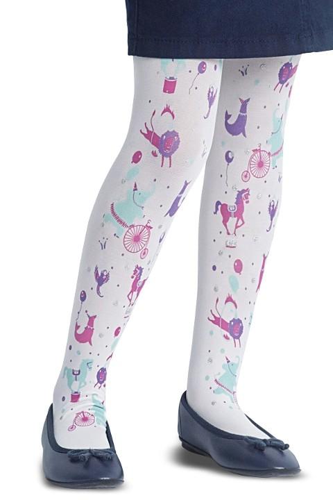 Penti Çocuk Circus Külotlu Çorap 10 Beyaz