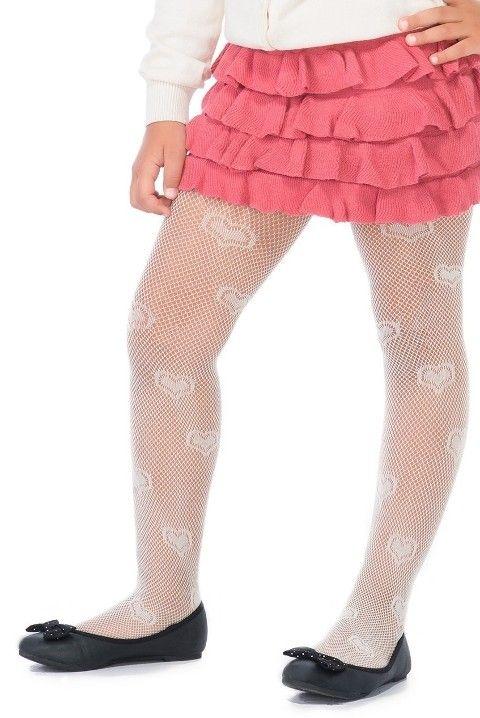 Penti Çocuk Kalp File Külotlu Çorap 21 Vanilya