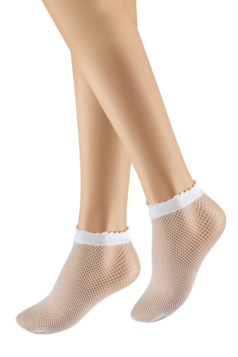 Penti İnce File Soket Çorap 10 Beyaz (3'lü Paket)