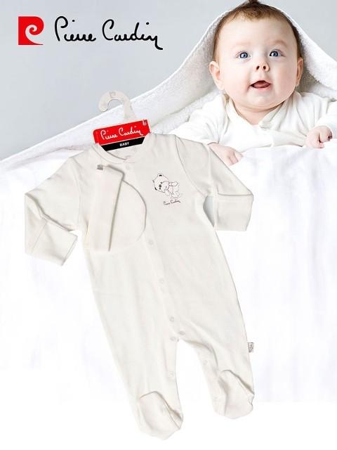Pierre Cardin Şapkali Kendinden Eldivenli Bebek Tulum Takımı