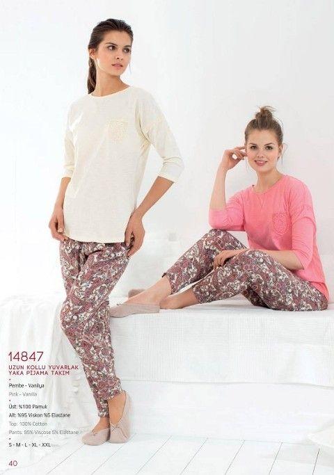 Pierre Cardin Uzun Kol 0 Yaka Pijama Takım 14847