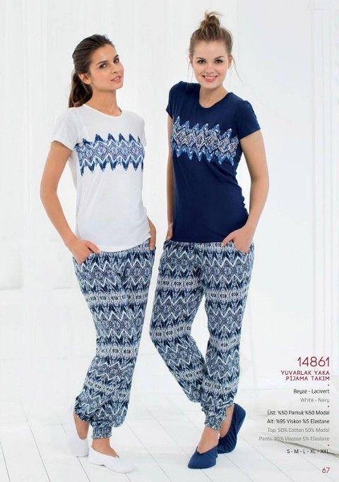 Pierre Cardin Yuvarlak Yaka Pijama Takım 14861