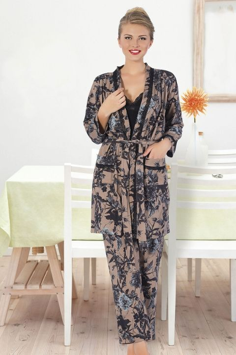 Pijama 3 Lü Takım Hmd 80085