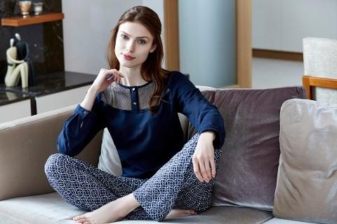 Eros Modal Dant. O Patlı Uzun Kollu Pijama Takım - Esk9370