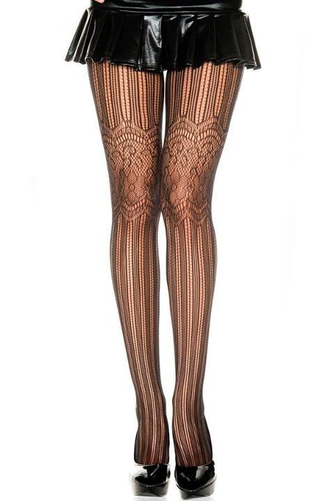 Fantazi Külotlu Çoraplar Redhotbest File Ve Çiçek Motifli Çok Seksi Külotlu Çorap