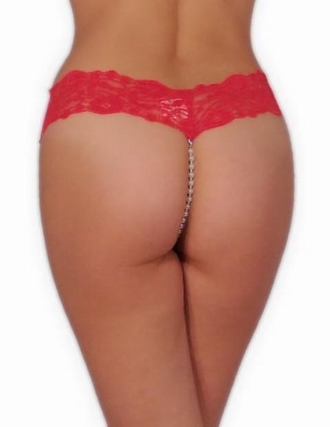 Seksi İç Çamaşırları Redhotbest Pearly Lace String