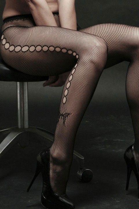 Fantazi Külotlu Çoraplar Redhotbest Pencereli Kelebek Desenli File Külotlu Çorap