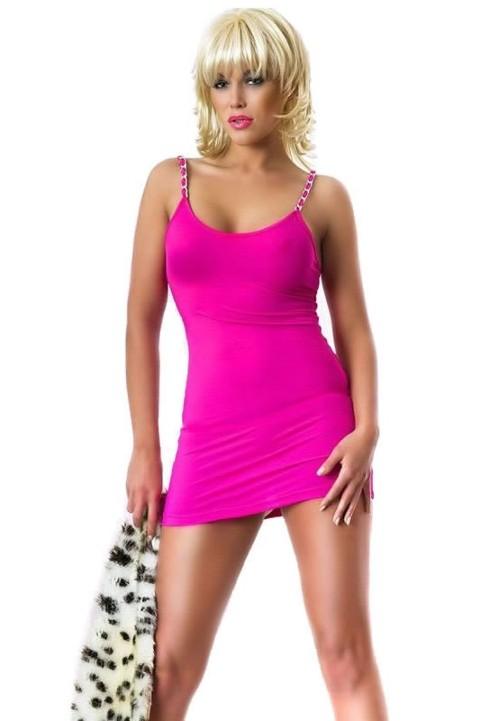 Gece Elbiseleri Redhotbest Zincirli Süper Mini Sexy Mini Dress
