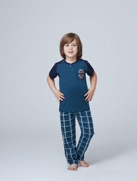 Roly Poly 6811 10-14 Yaş Garson Boy Erkek Yazlık Pijama Takımı