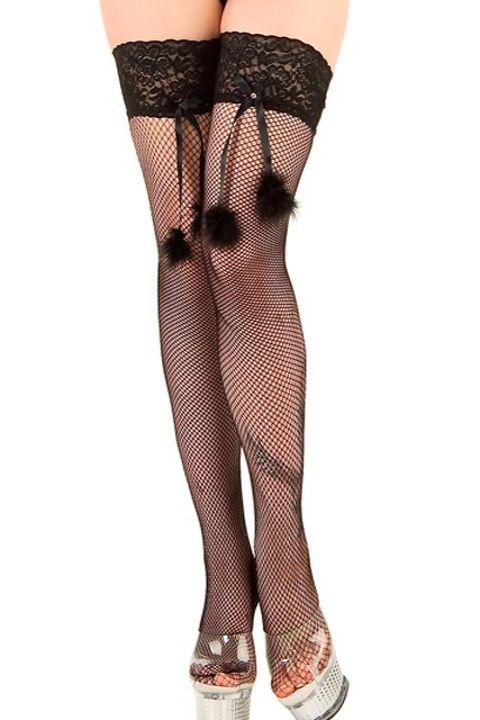 Fantazi Jartiyer Çorap La Blinque Siyah Aksesuarlı Jartiyer Çorap 954