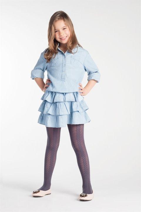 Daymod Tılsım Desenli Külotlu Çocuk Çorabı
