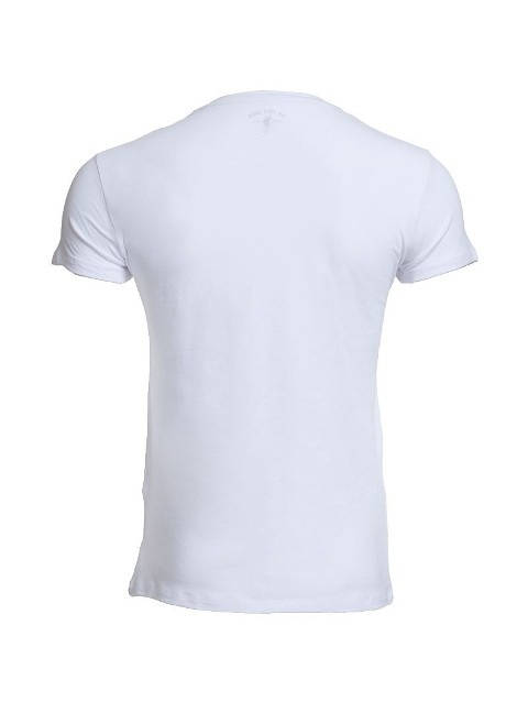 Us Polo 80081 Erkek Likralı V Yaka Tişört