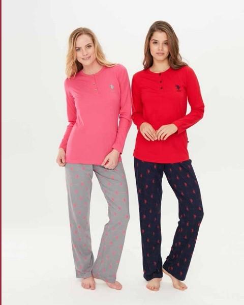 Us. Polo Assn. 15681 Patlı Pijama Takım