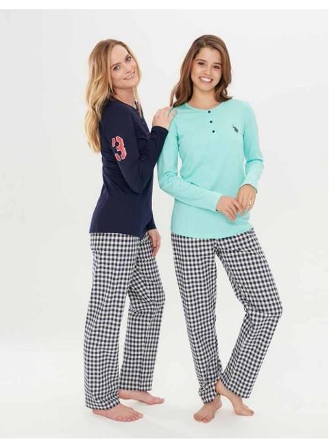 Us. Polo Assn. 15696 Patlı Pijama Takım