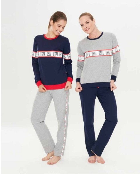 Us. Polo Assn. 15726 Yuvarlak Yaka Pijama Takım