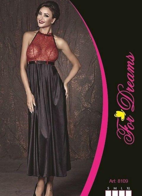 Üstü Transparan Popo Açık Uzun Elbise For Dreams 8109