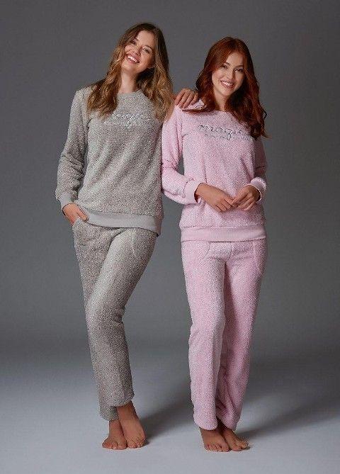 Velsoft Bayan Pijama Takım Bone Club 4431