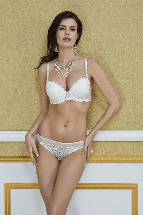 Versace Dantelli Dolgulu Sütyen Külot Takım V5001
