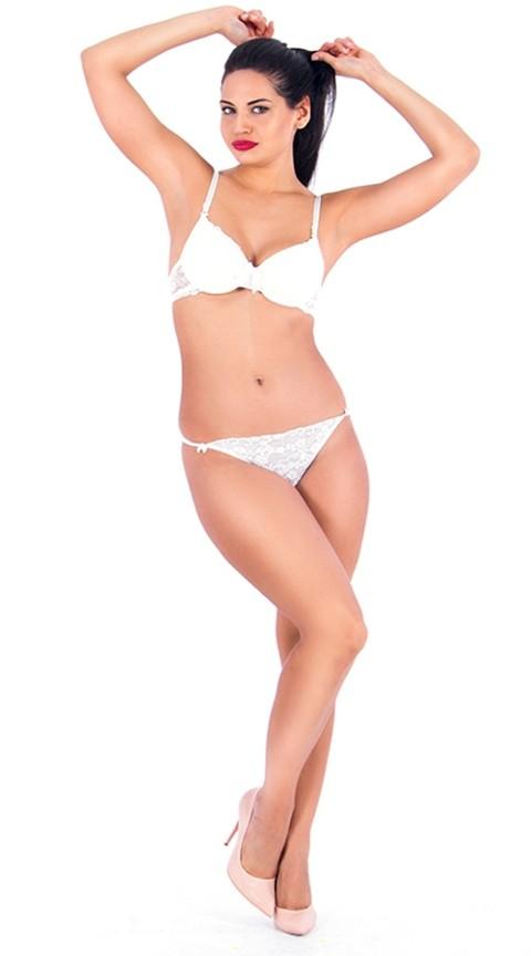Vixson Dantelli Beyaz Desteksiz Sütyen Takım