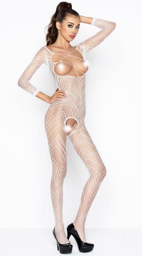 Vixson Desenli Beyaz Vücut Çorabı