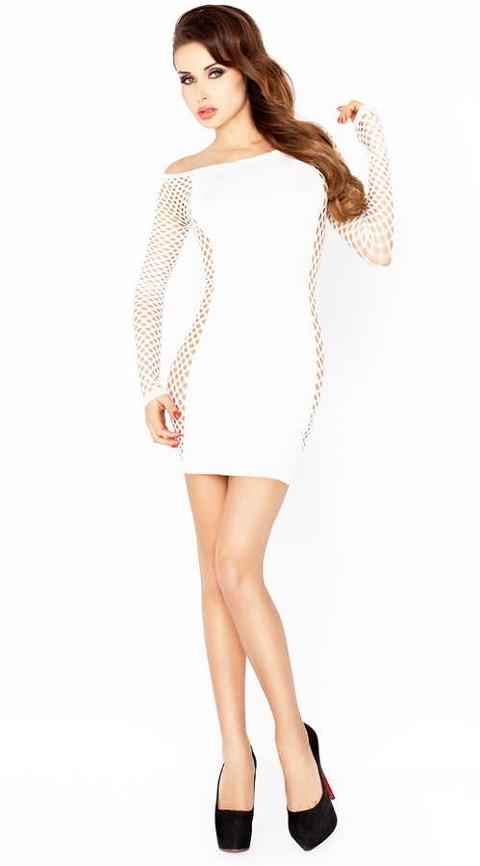 Gece Elbiseleri Vixson Fileli Seksi Beyaz Fantazi Elbise