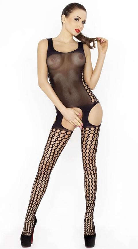 Vixson Fileli Siyah Vücut Çorabı