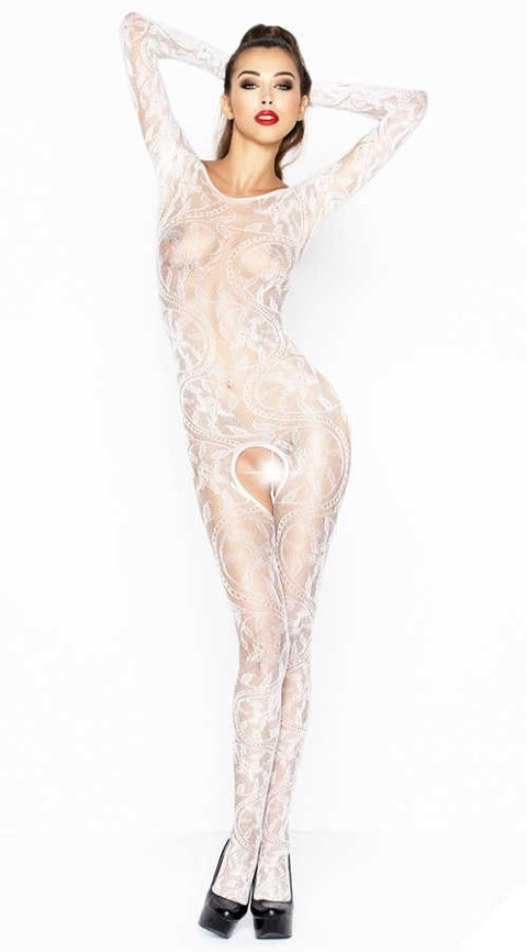Vixson Özel Bölgesi Açık Beyaz Vücut Çorabı