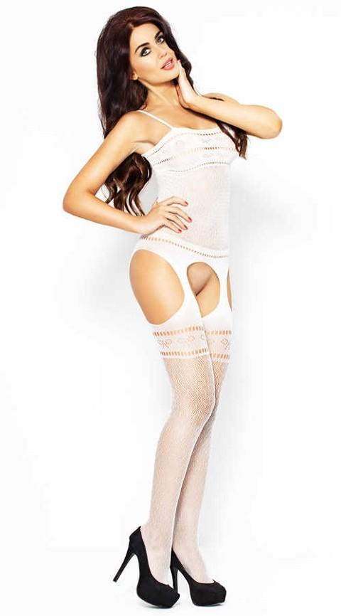Vixson Özel Bölgesi Açık Sexi Beyaz Vücut Çorabı