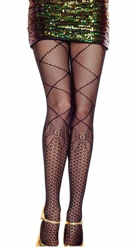 Vixson Özel Tasarım Fiyonk Desenli Külotlu Çorap