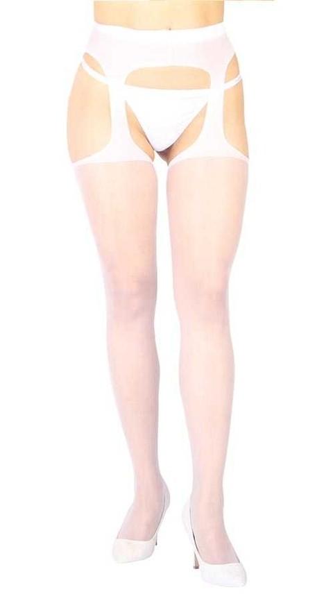 Fantazi Külotlu Çoraplar Vixson Özel Ve Yan Bölgeleri Açık Transparan Beyaz Fantazi Külotlu Çorap
