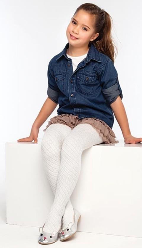 Daymod Yasmin Desenli Külotlu Çocuk Çorabı