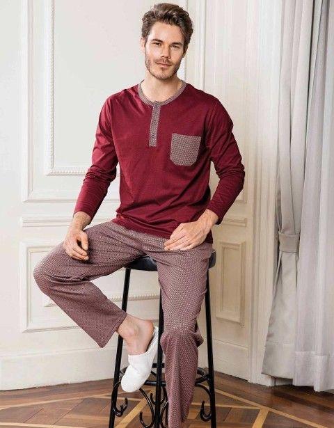 Yeni inci Epj612 Erkek Süprem 2 Li Pijama Takım