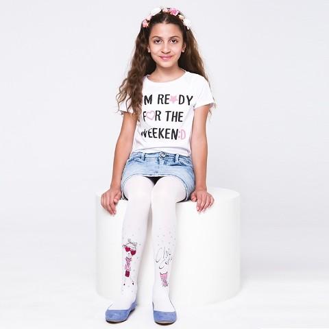 Daymod Yıldız Çocuk Külotlu Çorap D2125051