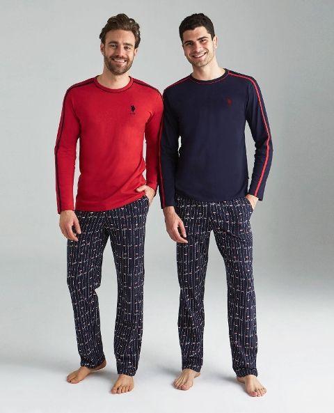 Yuvarlak Yaka Pijama Takımı Us. POLO Assn. 18123