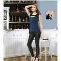 Anıt İç Giyim Deri Apoletli Tayt Takım 4406