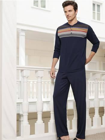 Berrak Erkek Ringel Pijama Takımı
