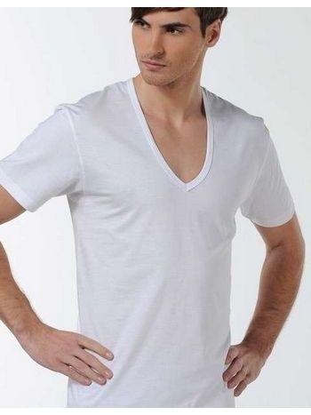 Çift Kaplan Derin V Yaka T-Shirt 936
