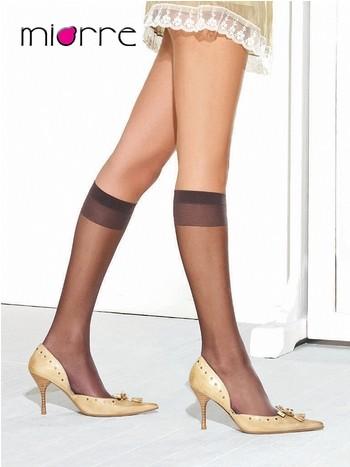 Miorre Likralı Parlak Tekli Dizaltı Çorap