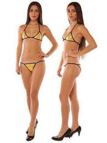 Redhotbest Gold Dore Fantezi Bikini Set