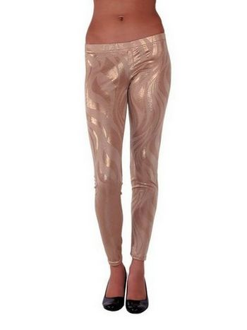 Redhotbest Shiny Abstract Tight - Baskılı Dore Tayt