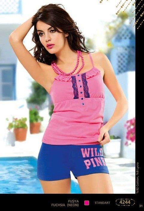 Anıt Bayan Pink Baskılı Takım 4244
