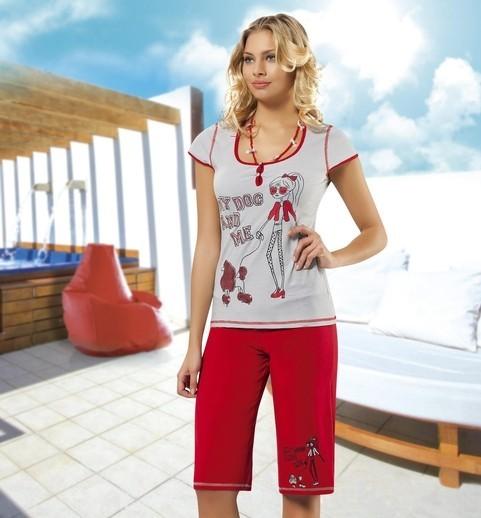 Anıt İç Giyim Çizgili Kız Baskılı Takım 4316