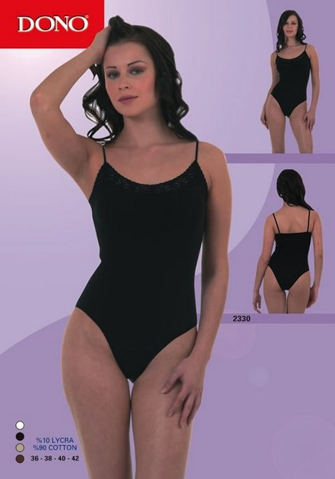 Çıtçıtlı Body Dono Çıtçıtlı İp Askılı Dantelli Body