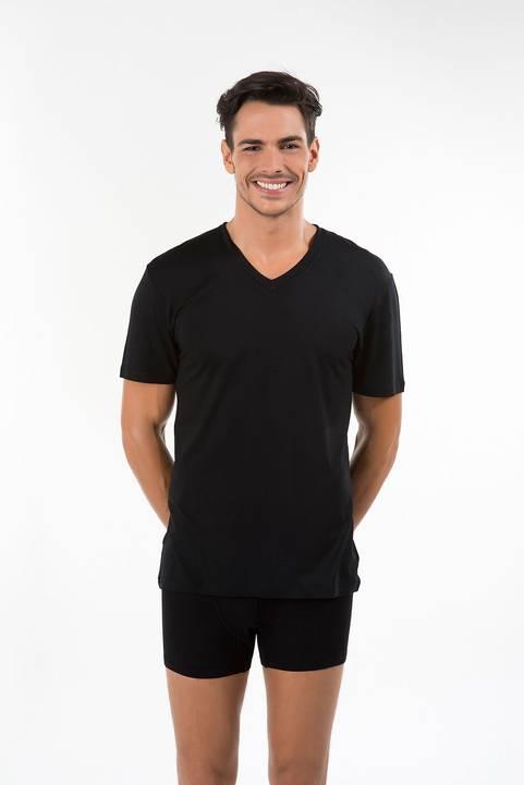 Kom Erkek V Yaka Pamuklu T-Shirt Antonio