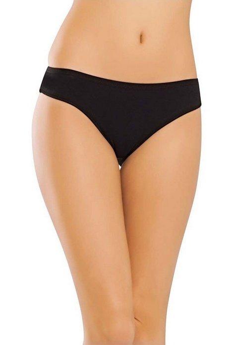 Pamuk Elastan Arka Dantelli Bikini -3 lü Paket Erdem 7109