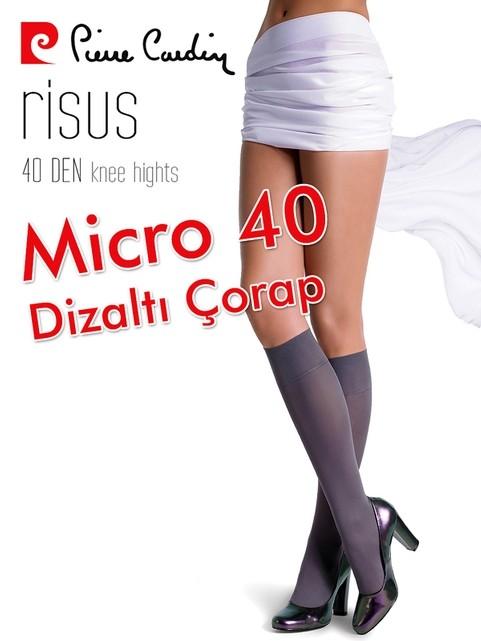 Pierre Cardin Micro 40 Mat Dizaltı Çorap Risus